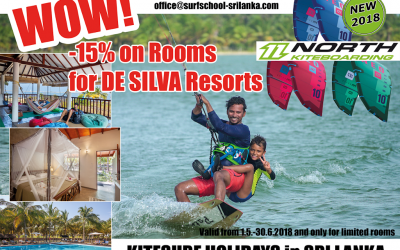 Kitesurf holiday offer in Sri Lanka from 1.5.-30.6.2018 – ONLY FOR LIMITED ROOMS
