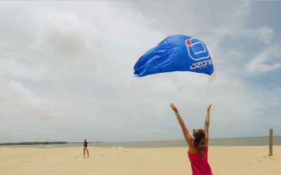 Learn kite surfing during Christmas