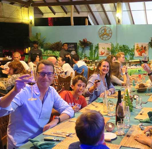 De Silva Restaurant at kite hotel in Sri Lanka