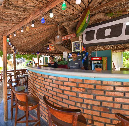 Surfbar at De Silva kite hotel in Sri Lanka