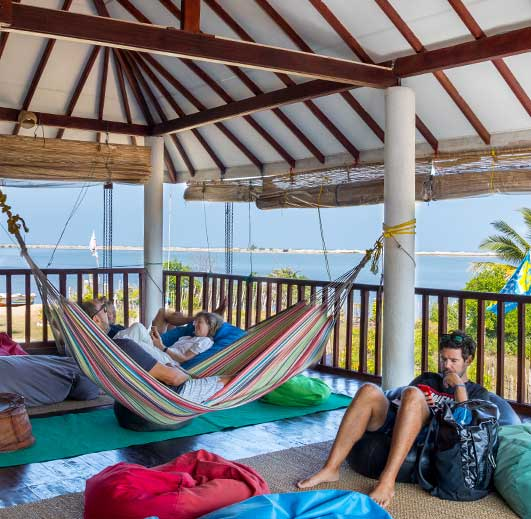 kite hotel Sri Lanka with chillout area