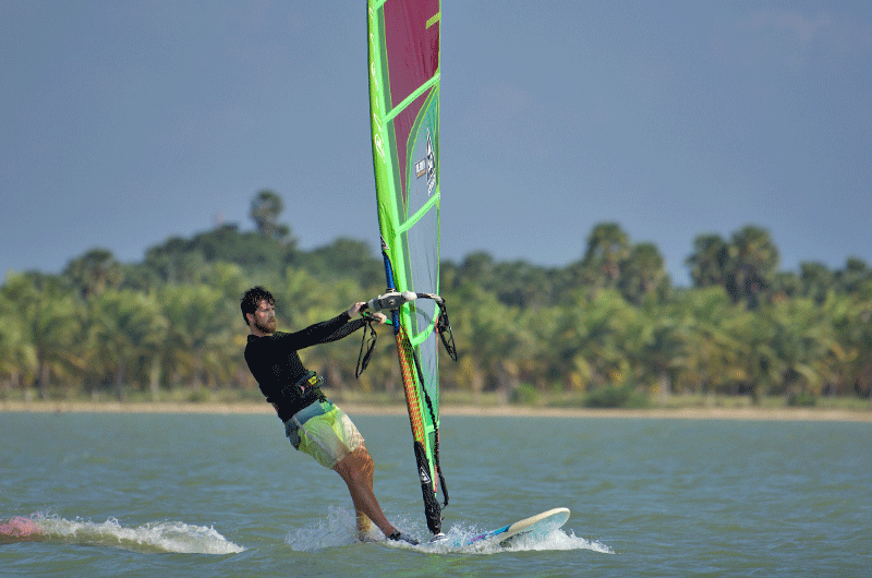 windsurf pro Upul de silva in sri lanka