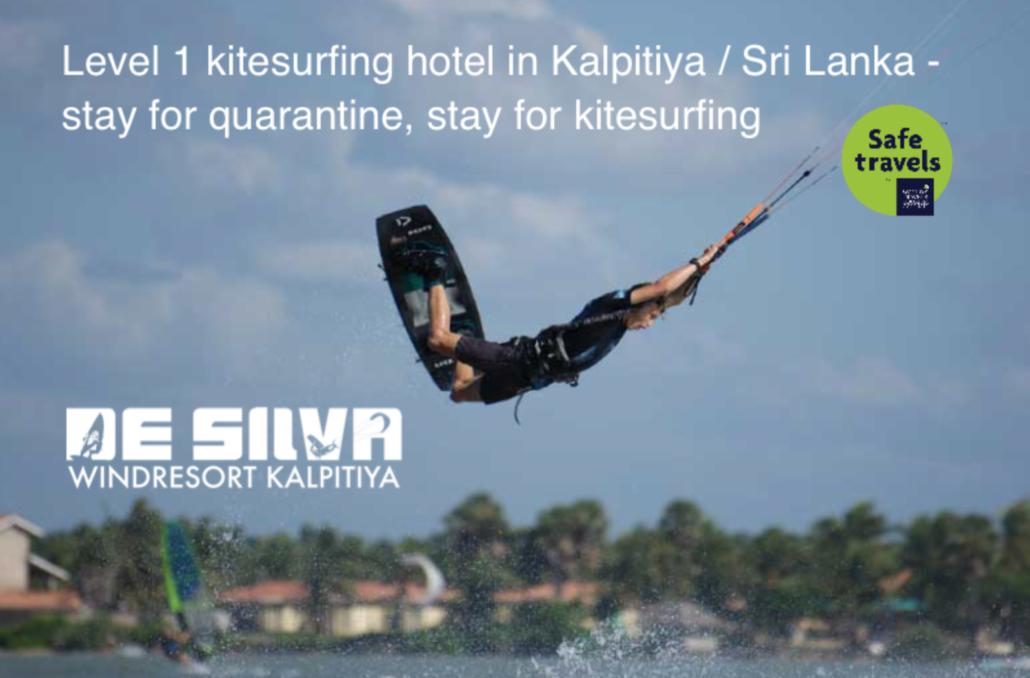Srilanka Kitesurfing quarantine hotel De Silva