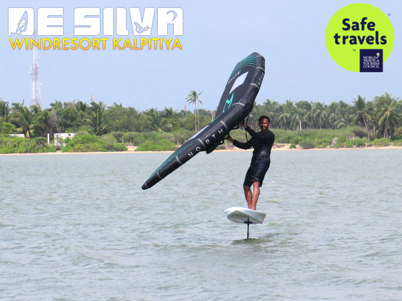 Wing foil surfer Sri Lanka