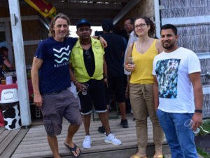 Thomas Böhm and Sri Lankan friends at Kite2Fly